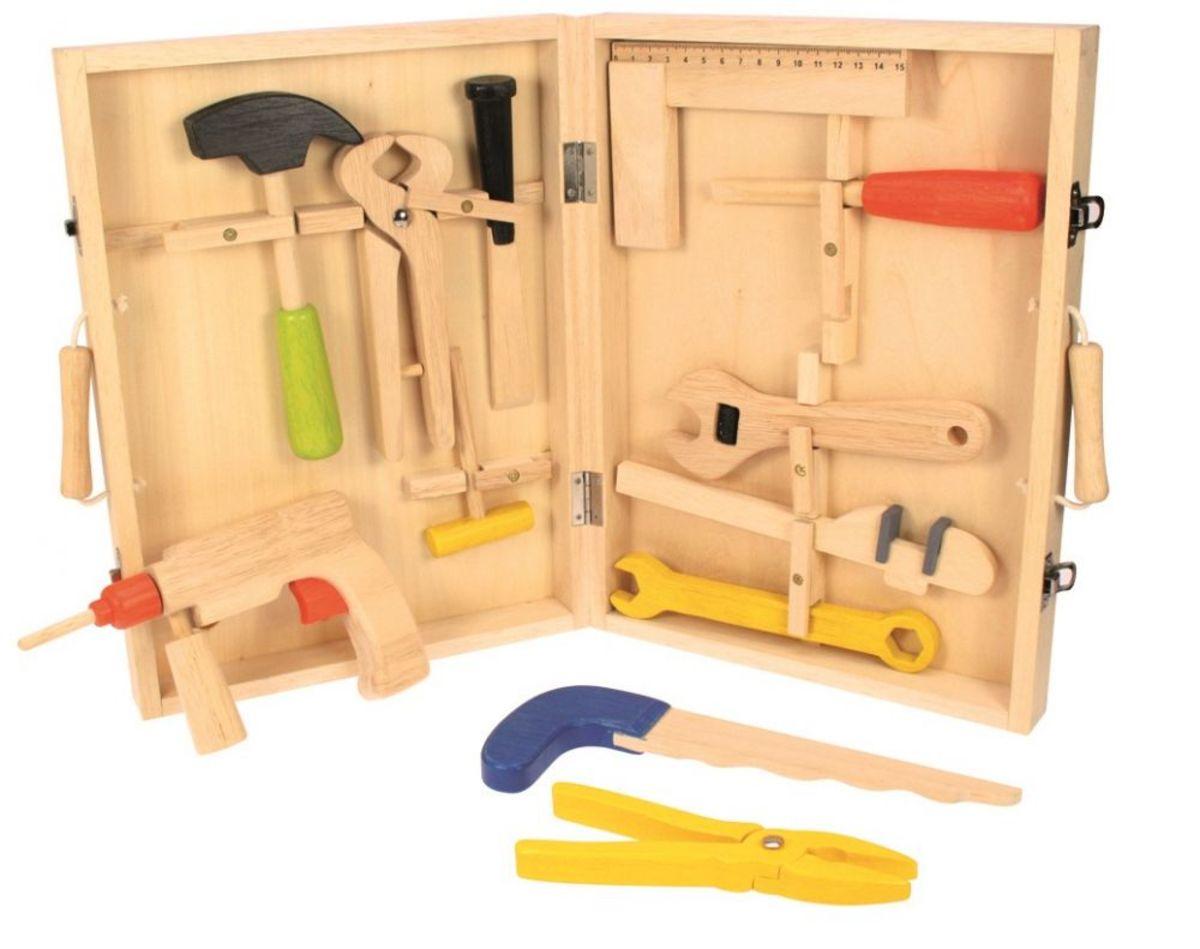 Drevený kufrík s náradím Wooden tool set