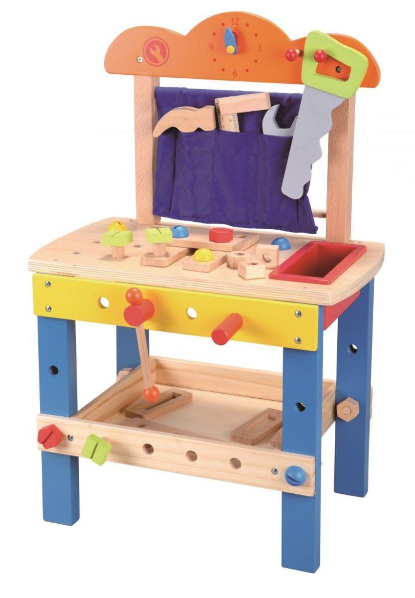 Drevená dielňa s množstvom náradia workbench toy