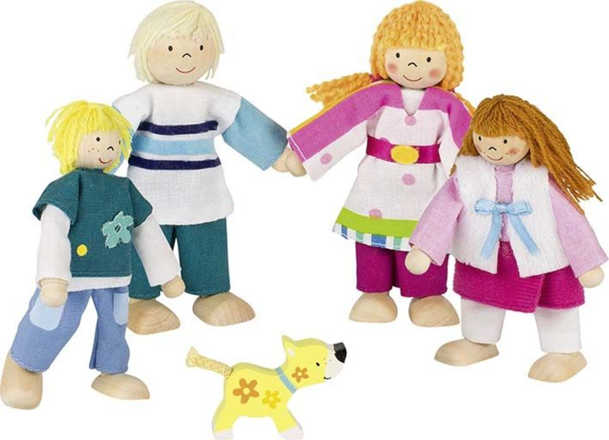 Drevené bábiky Susibelle Wooden doll family