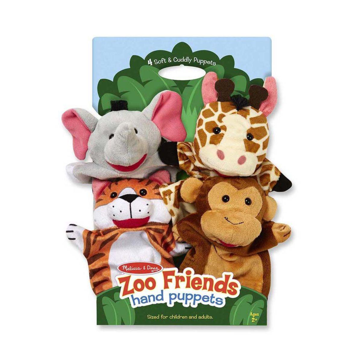 Maňušky Zoo - súprava 4 ks Hand puppets