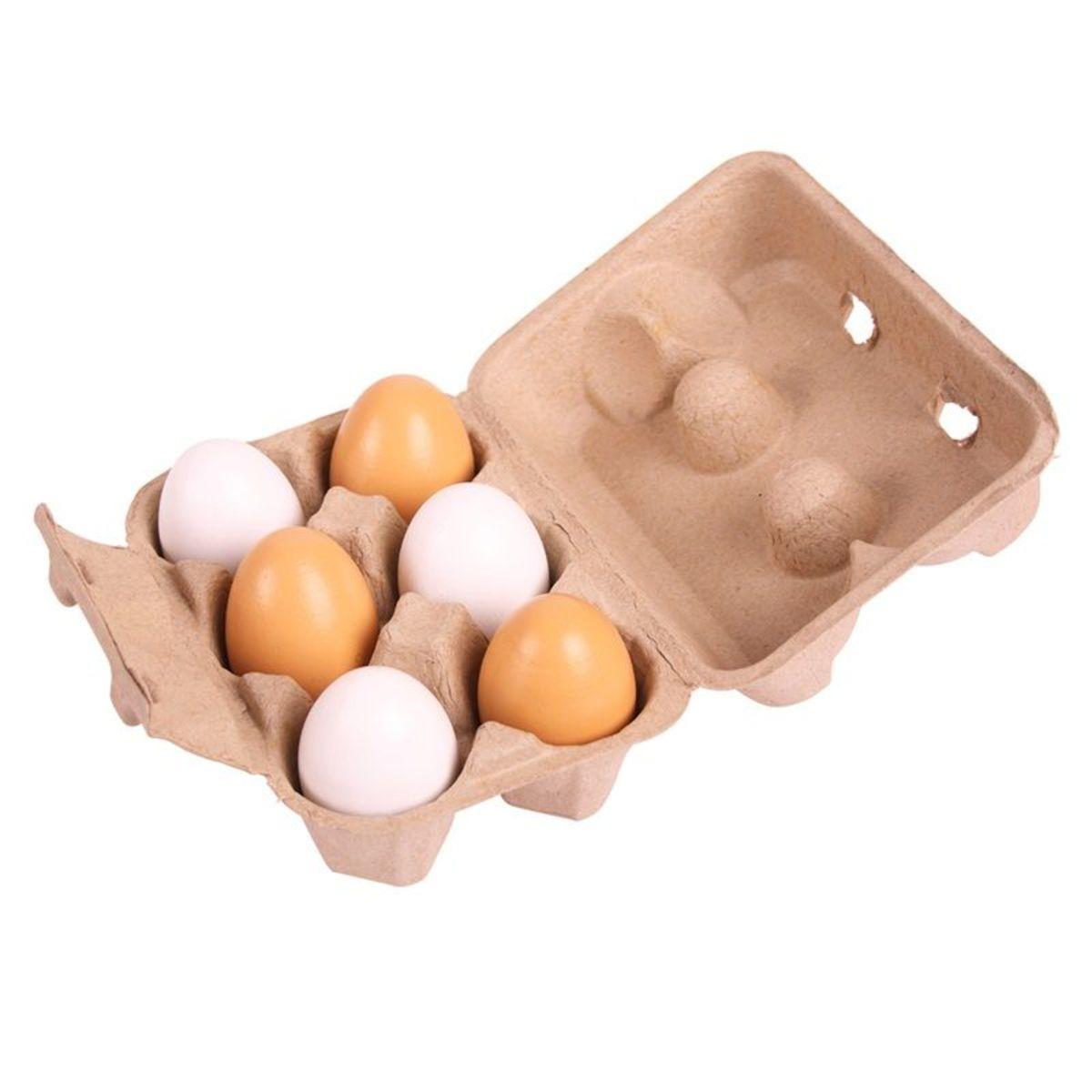 Drevená vajcia 6 kusov Wooden eggs