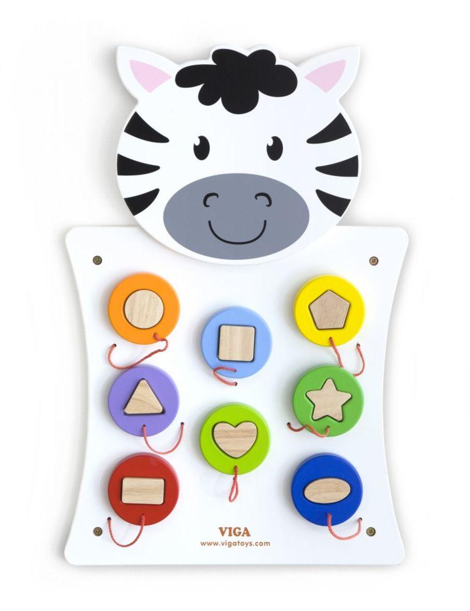 Vzdelávacie nástenná hračka - Zebra Activity wall panel
