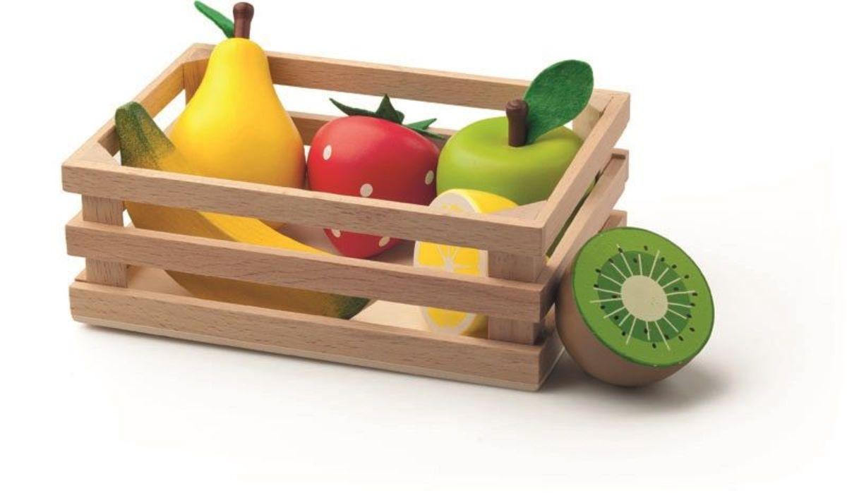 Drevené ovocie v debničke Colorful fruits