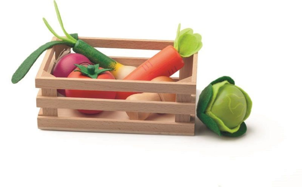 Drevená zelenina v debničke Wooden vegetables