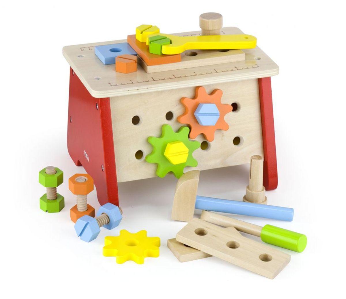 Drevená konštrukčná sada s náradím Wooden tool kit