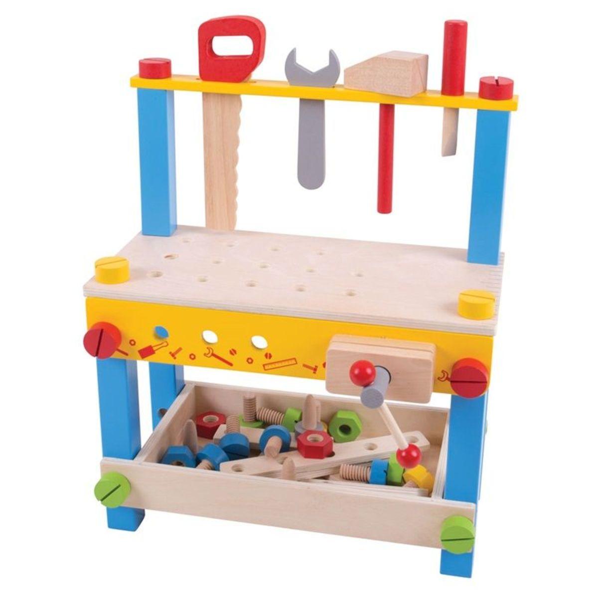 Detská pracovná dielňa s náradím Wooden workshop set