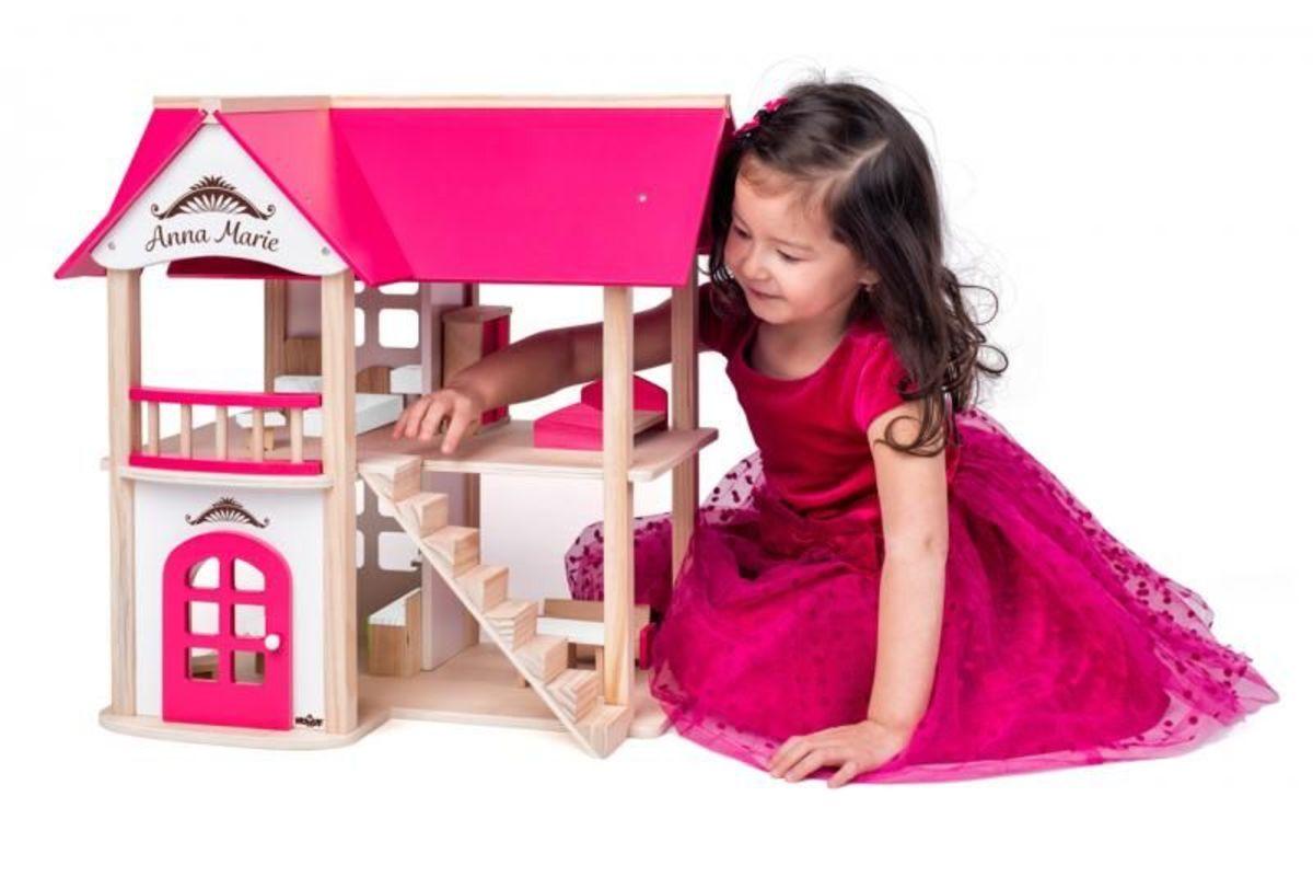 Domček pre bábiky Anna-Marie s nábytkom Wooden dollhouse