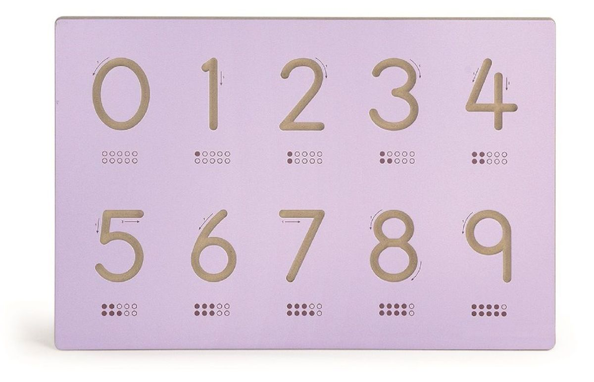 Kresliace šablóna číslica Number template
