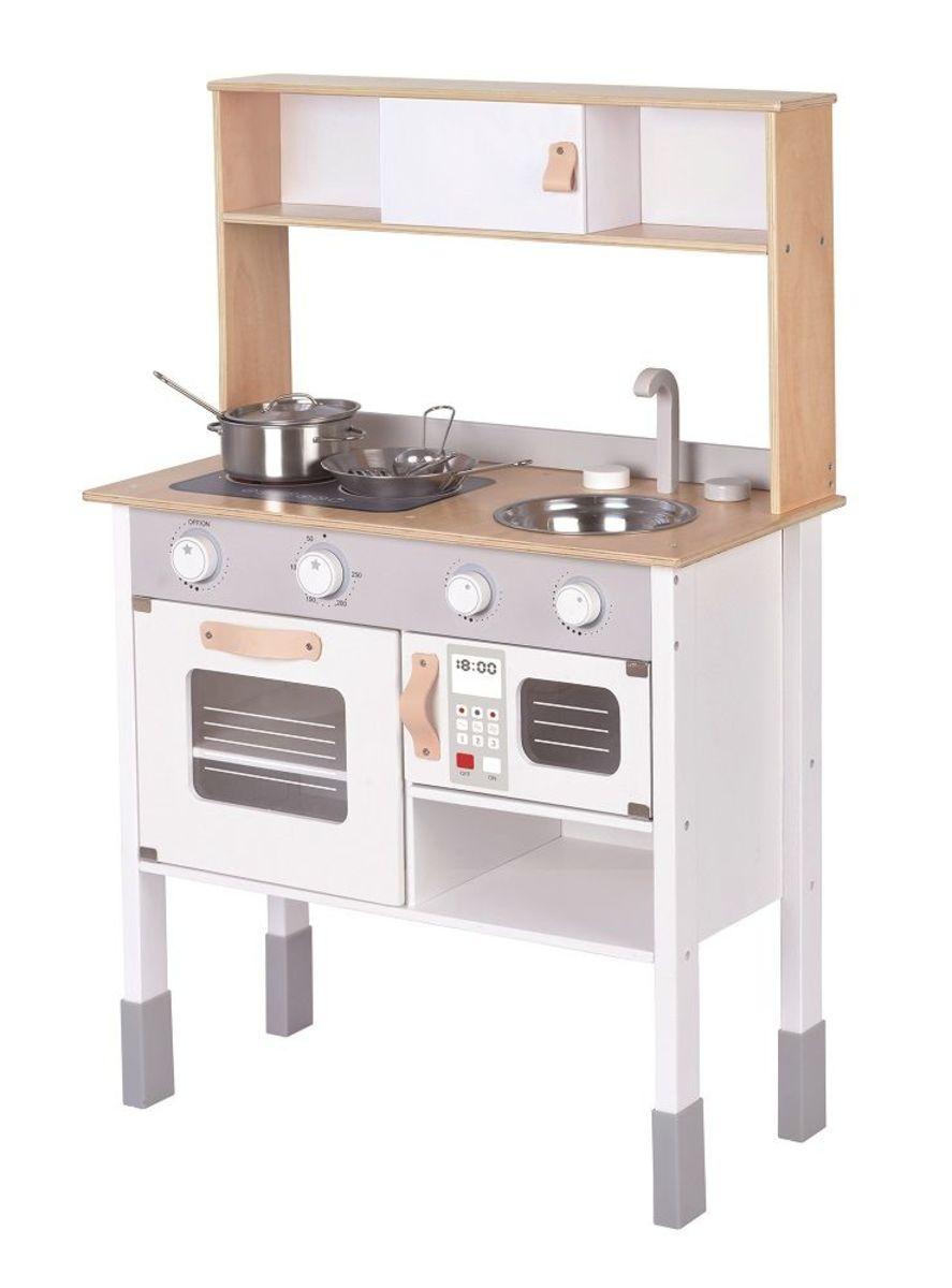 Drevená kychyňka Ella - šedá Wooden kitchen