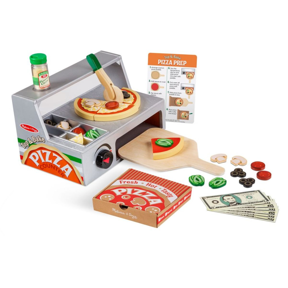 Drevená pizzerie Melissa & Doug Wooden pizza set