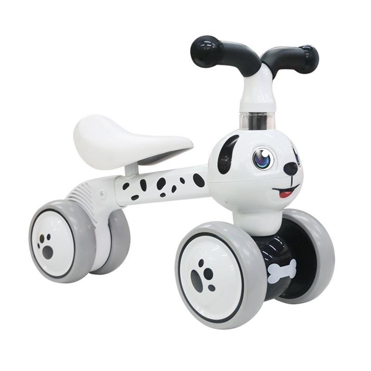 Detské odrážadlo Psík - čiernobiele scooter