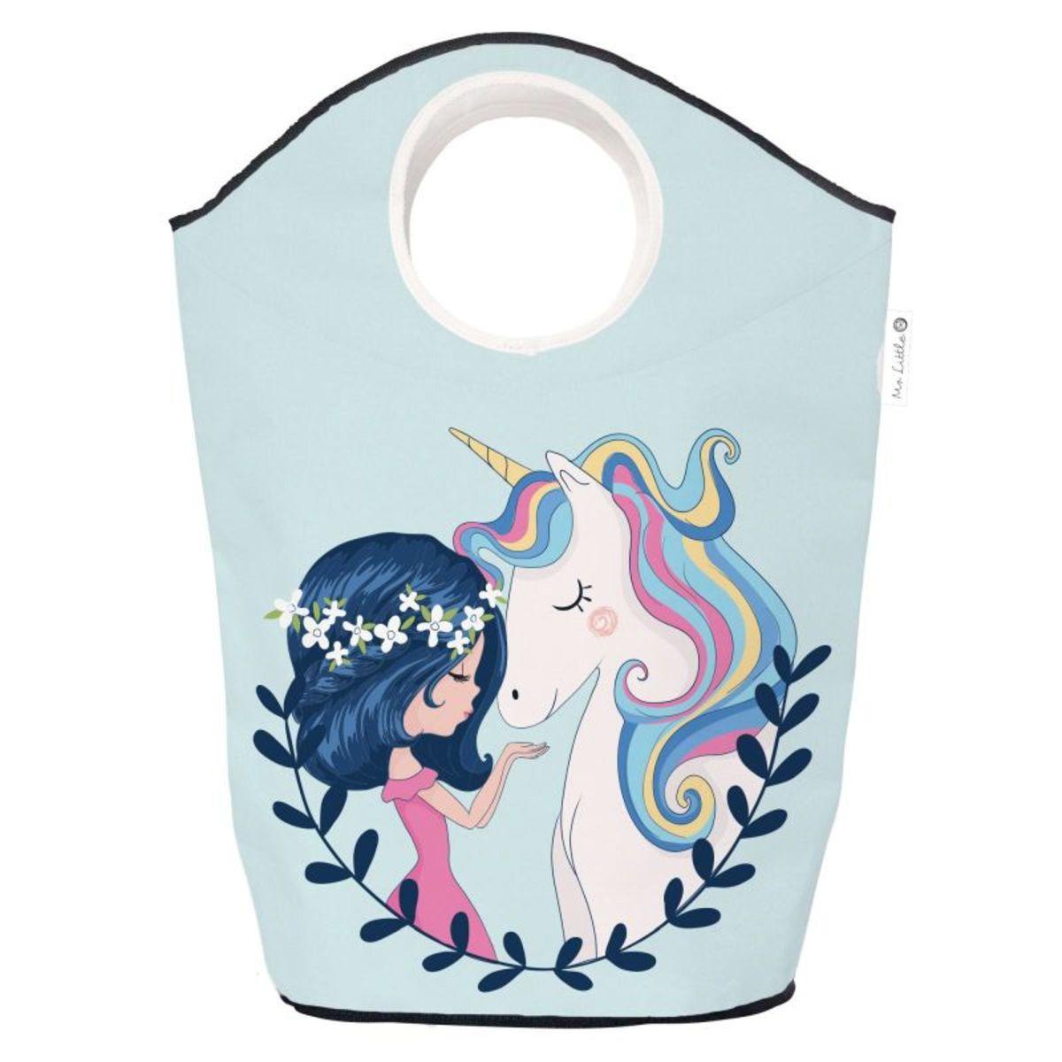 Mr. Little Fox Detská úložná taška - Dievčatko a jednorožec Unicorn