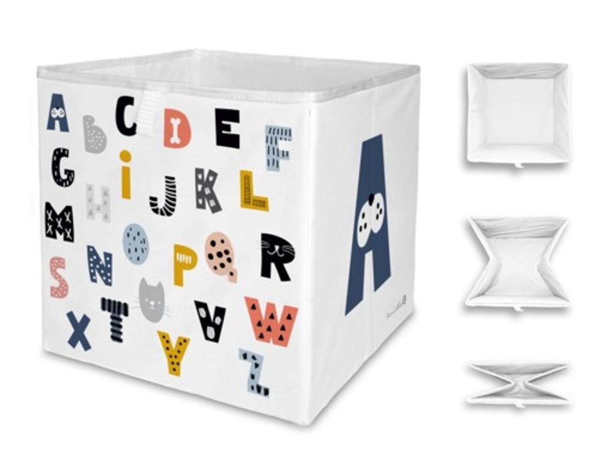 Mr. Little Fox úložná krabica abcd Letters