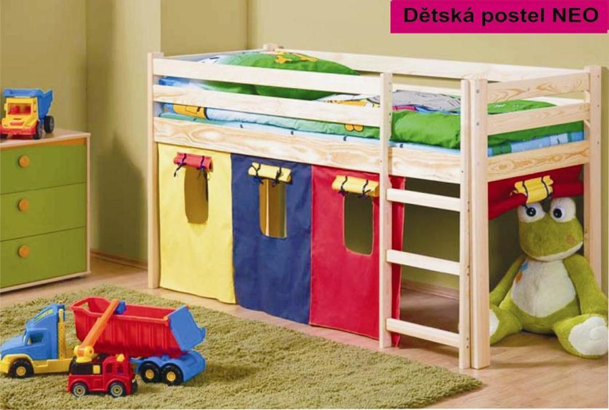 Detská posteľ zvýšená NEO jelša