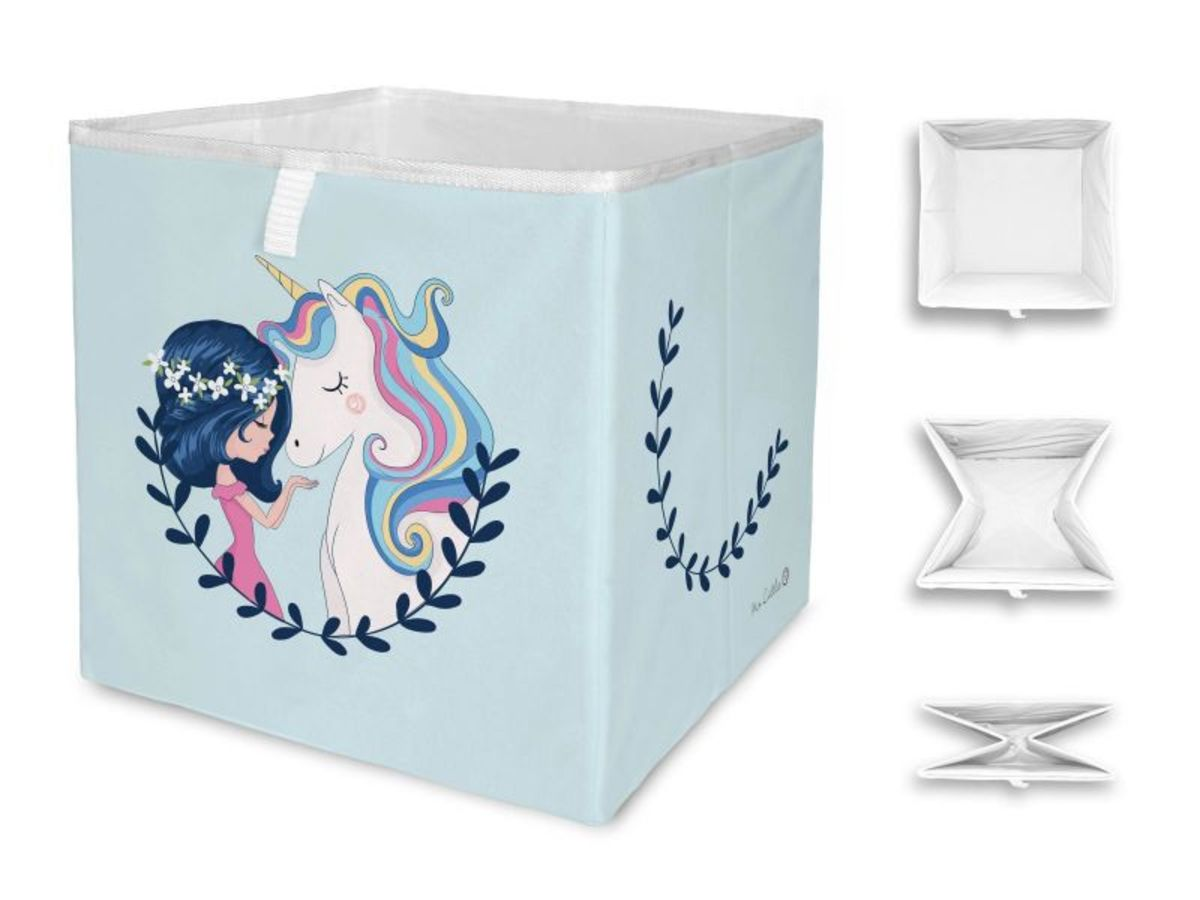 Mr. Little Fox úložná krabica dievča a jednorožec Unicorn