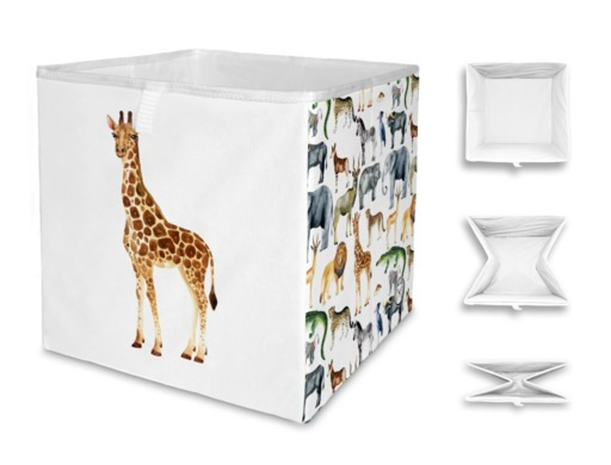 Detský úložný box - Atlas zvierat Animal catalogue