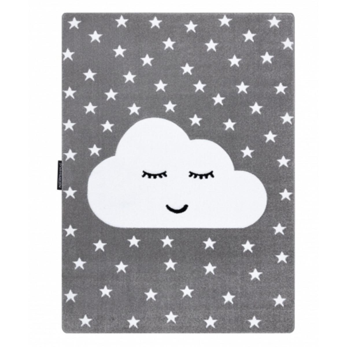 Detský koberec PETIT - Mráček - sivý Cloud rug - grey 80 x 150 cm