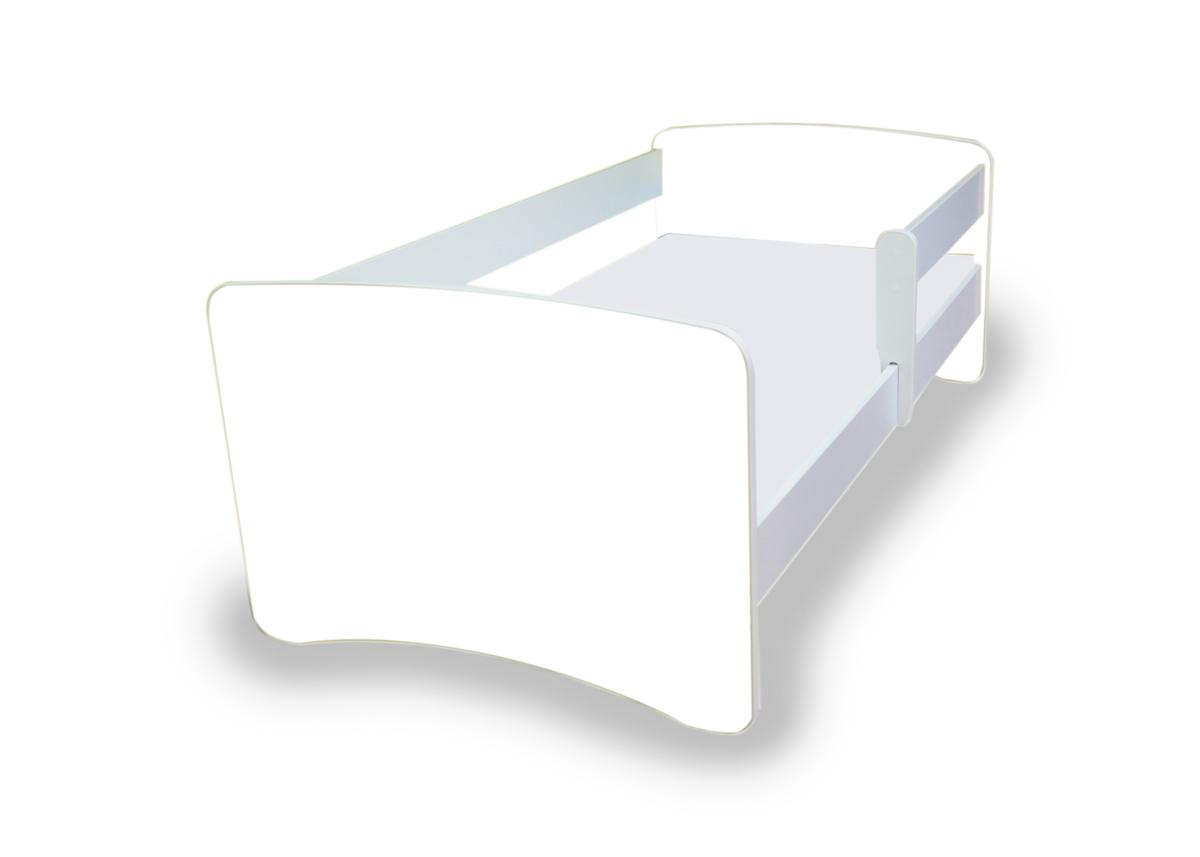Detská posteľ so zábranou NICO - biela 160x70 cm posteľ bez úložného priestoru