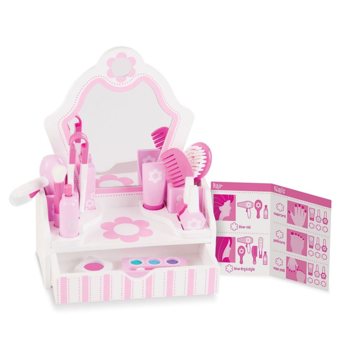 Detský kozmetický stolík so zrkadlom beauty dressing table
