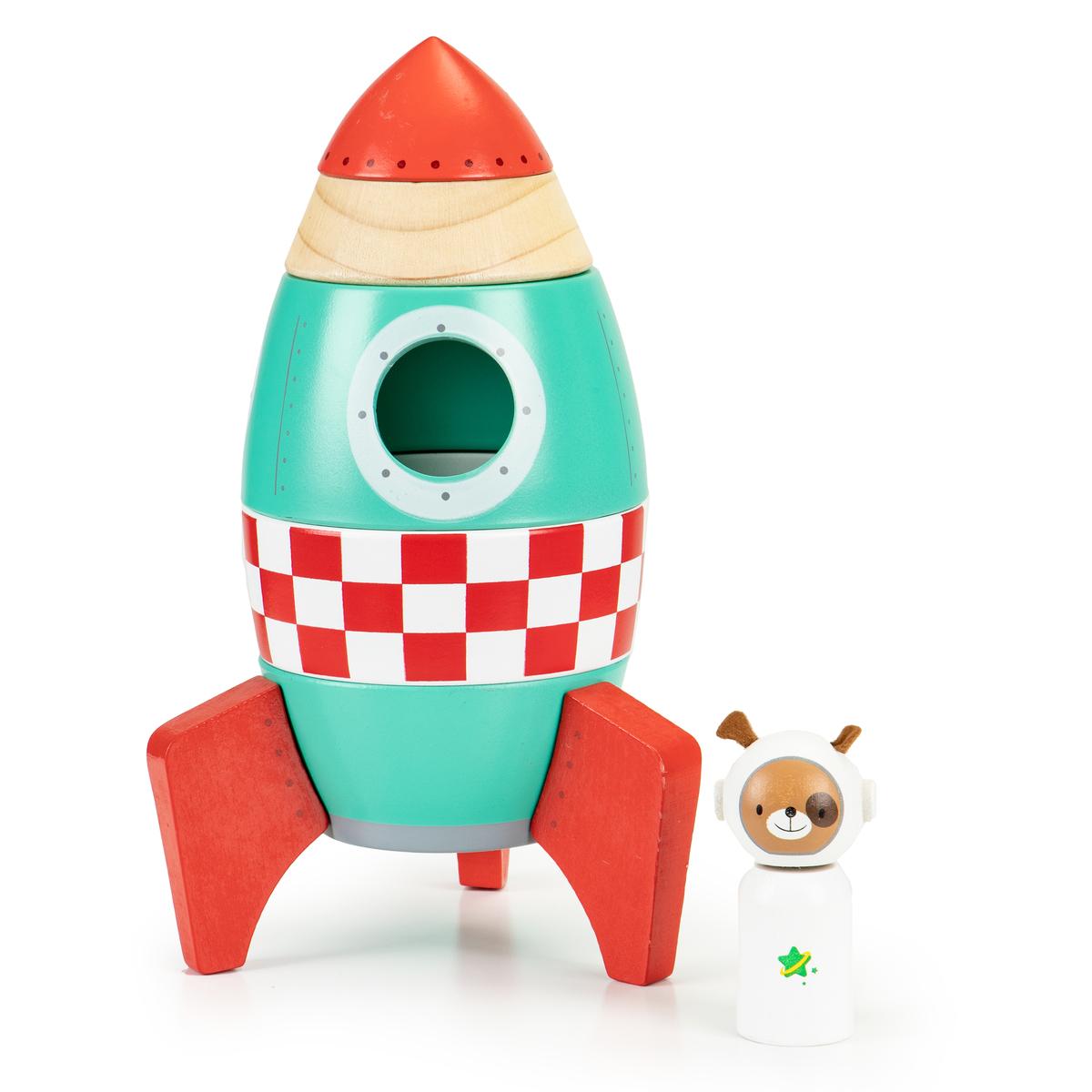 Drevená skladacia raketa EcoToys Kids wooden racket