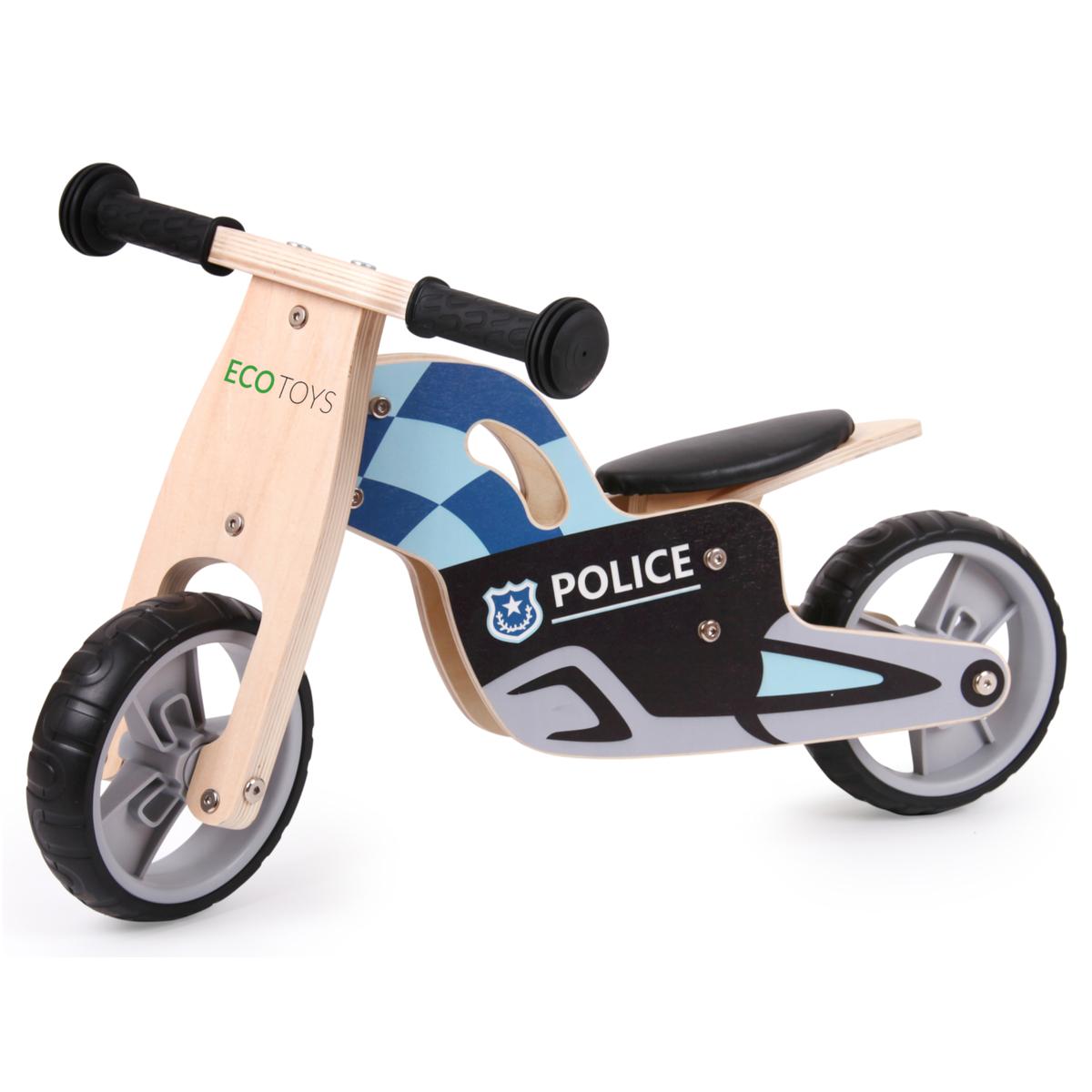 Drevené odrážadlo - Polícia Police wooden bike