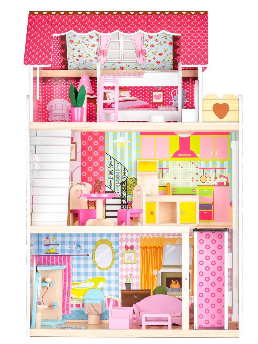Drevený domček pre bábiky Ruby dollhouse