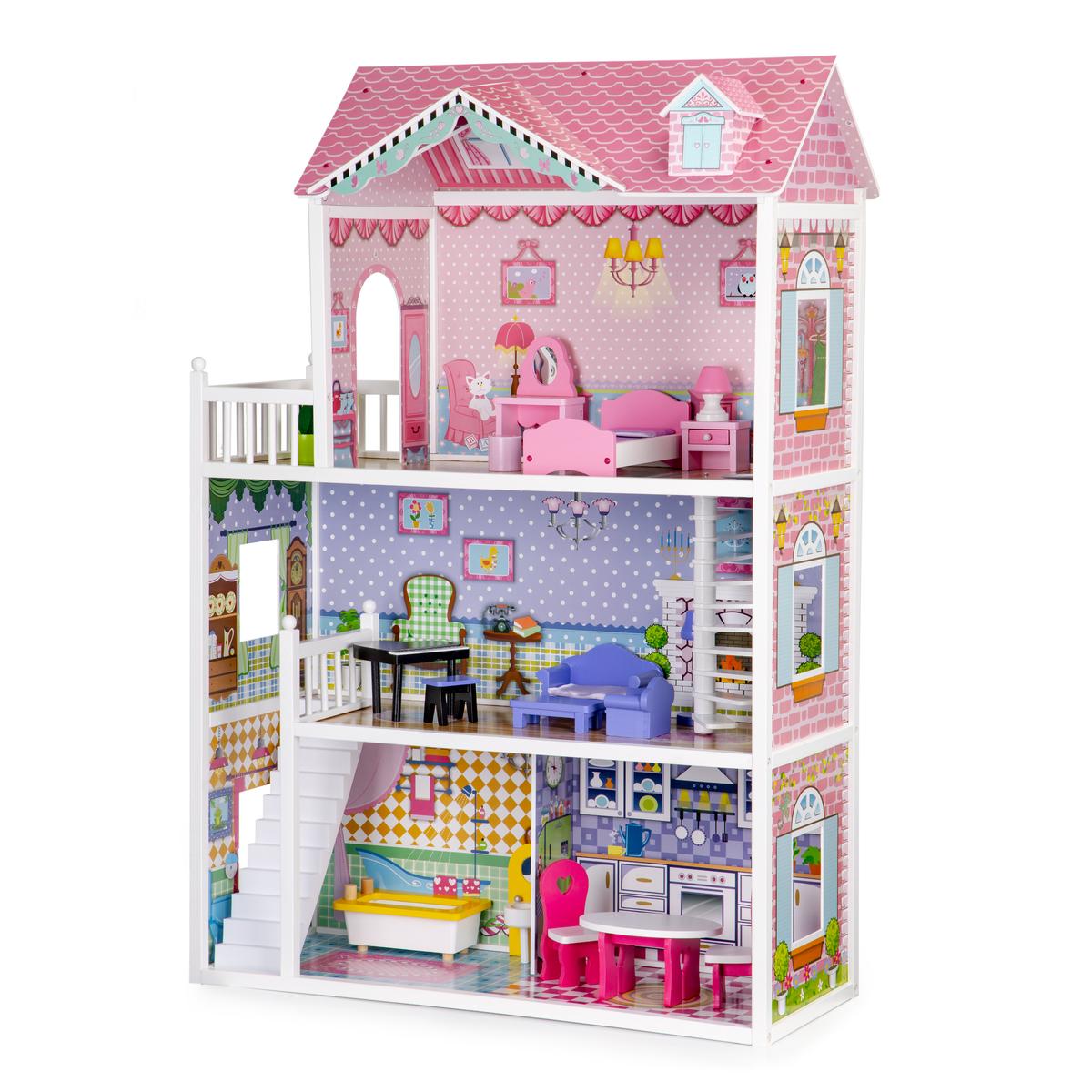 Drevený domček pre bábiky Lilly dollhouse