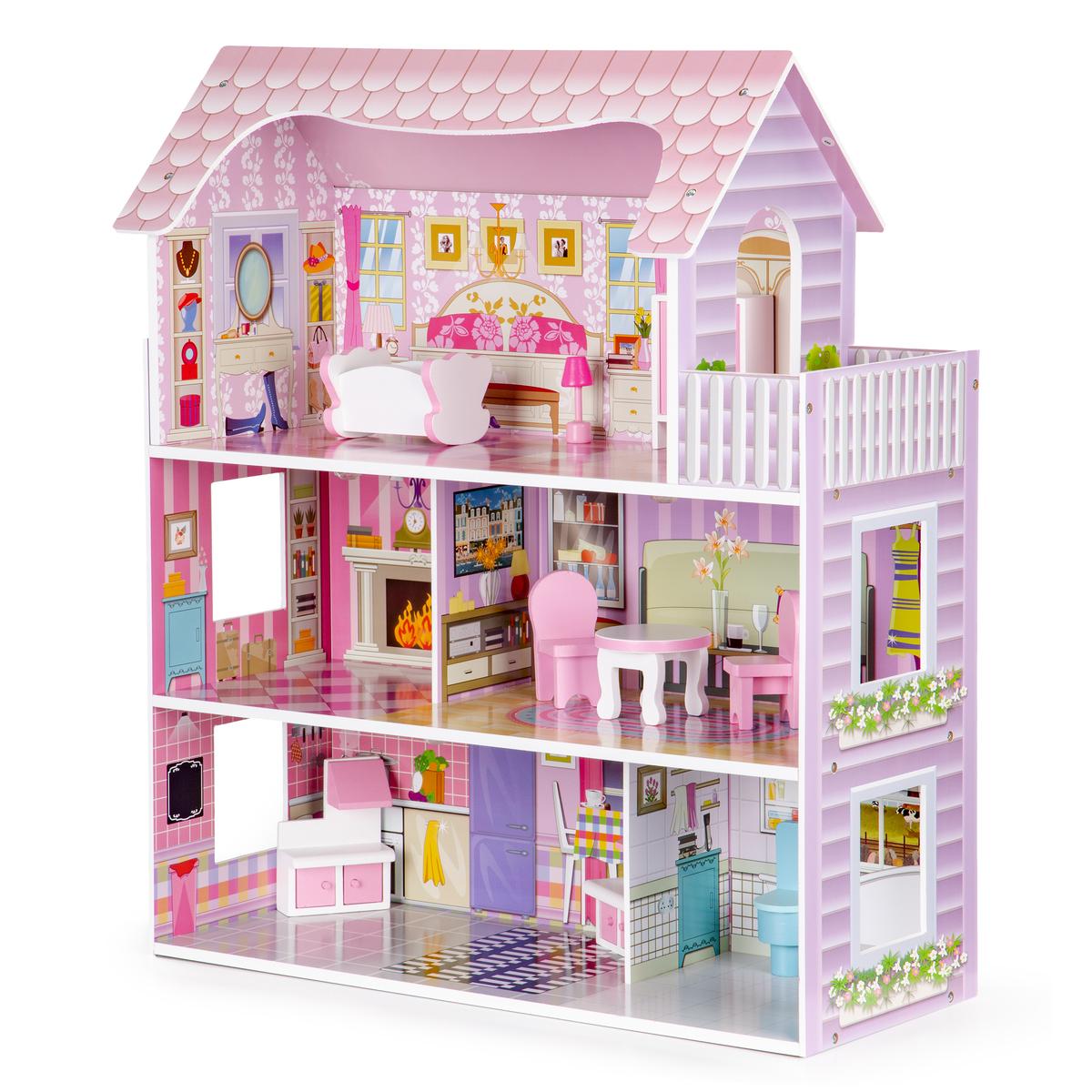 Drevený domček pre bábiky Charlotte dollhouse