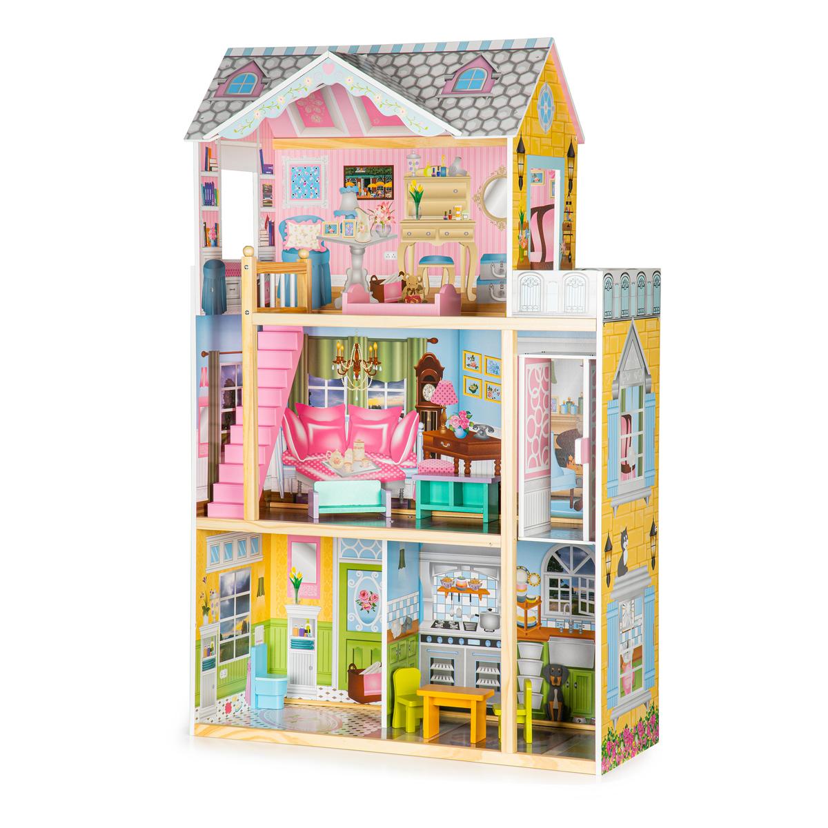 Drevený domček pre bábiky s výťahom Melissa dollhouse