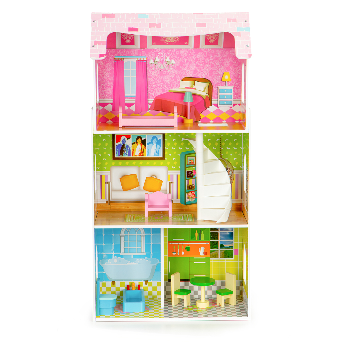 Drevený domček pre bábiky Viola dollhouse