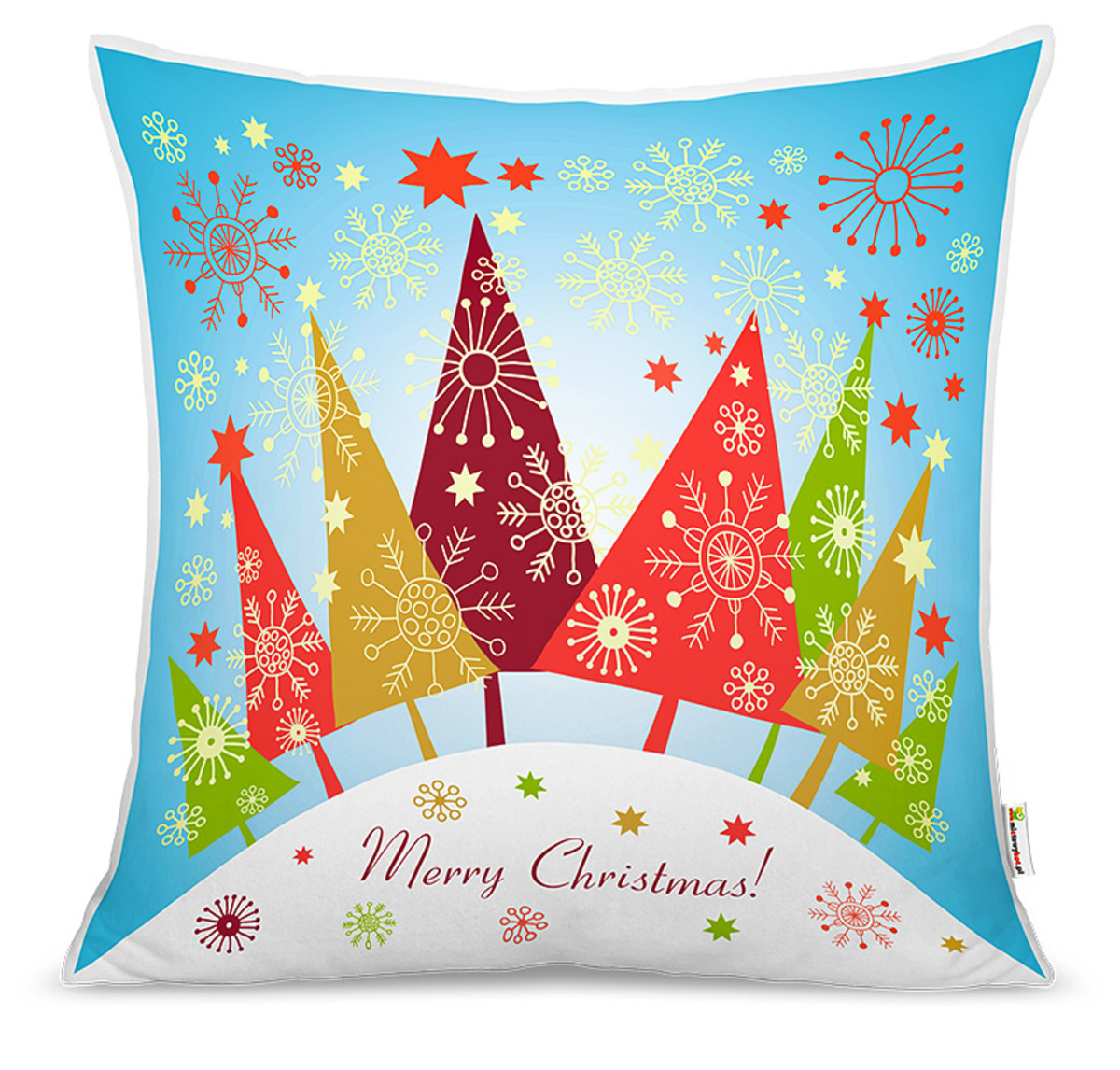Vianočný detský vankúš Vianočné stromčeky poťah + výplň 40x40 cm