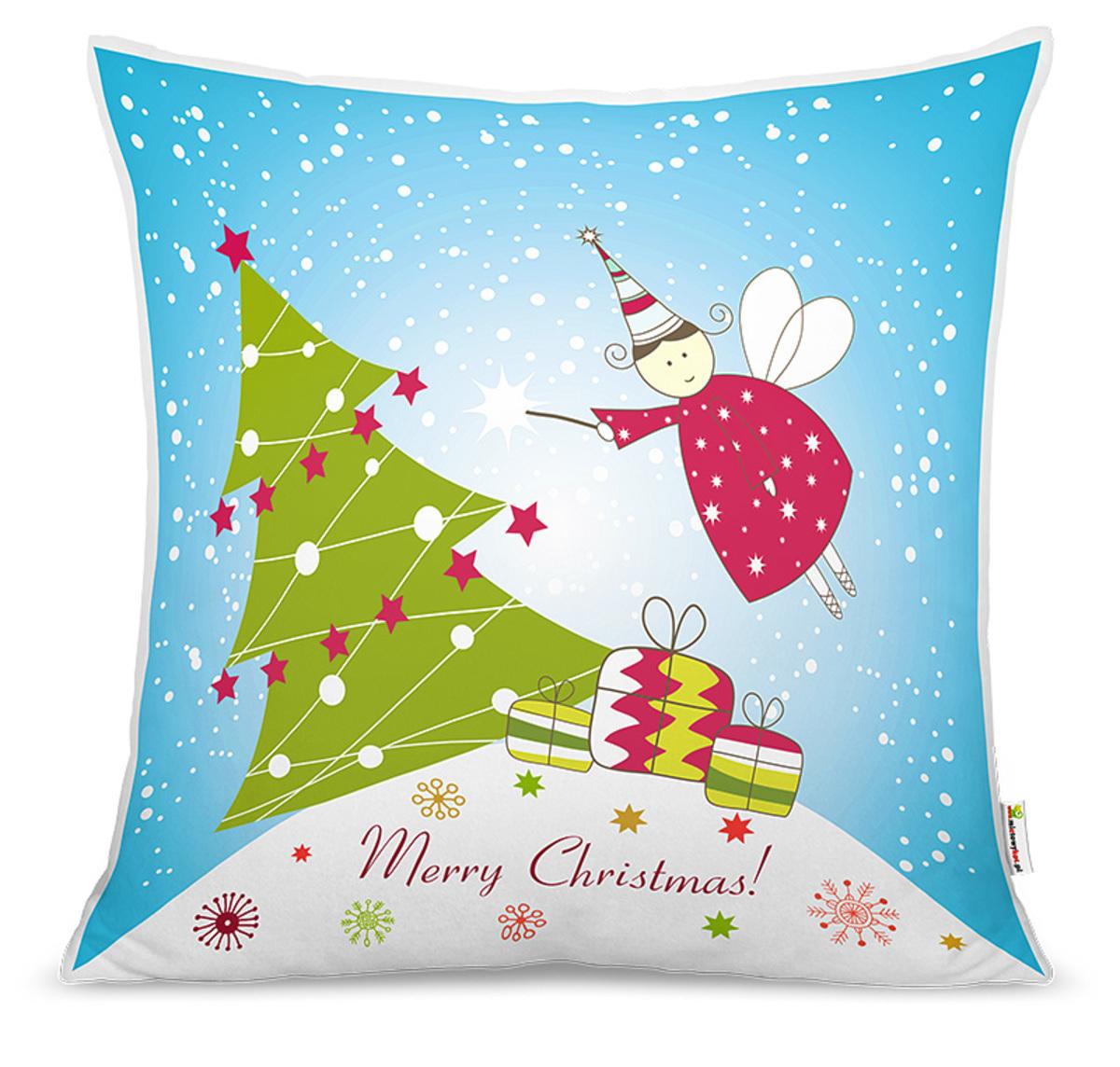 Vianočný detský vankúšik - vianočná víla poťah 40x40 cm