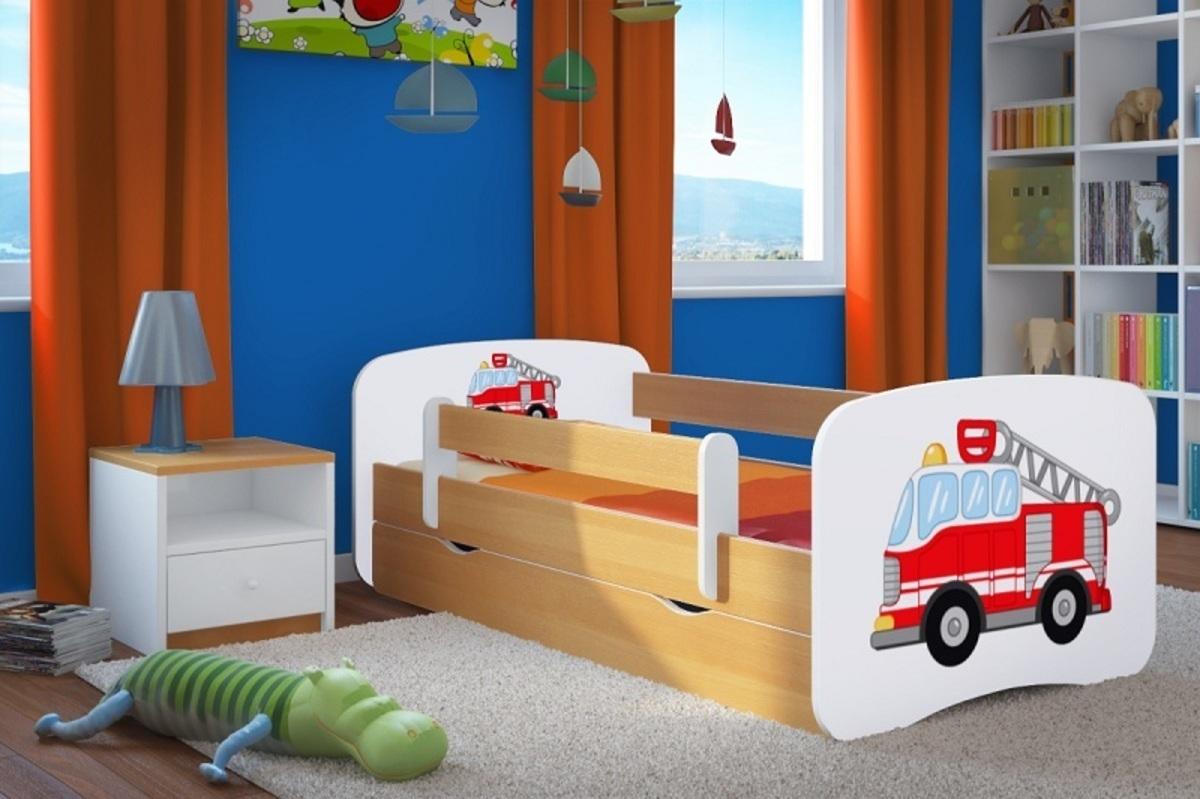 Detská posteľ Ourbaby Fire Truck buk 140x70 cm
