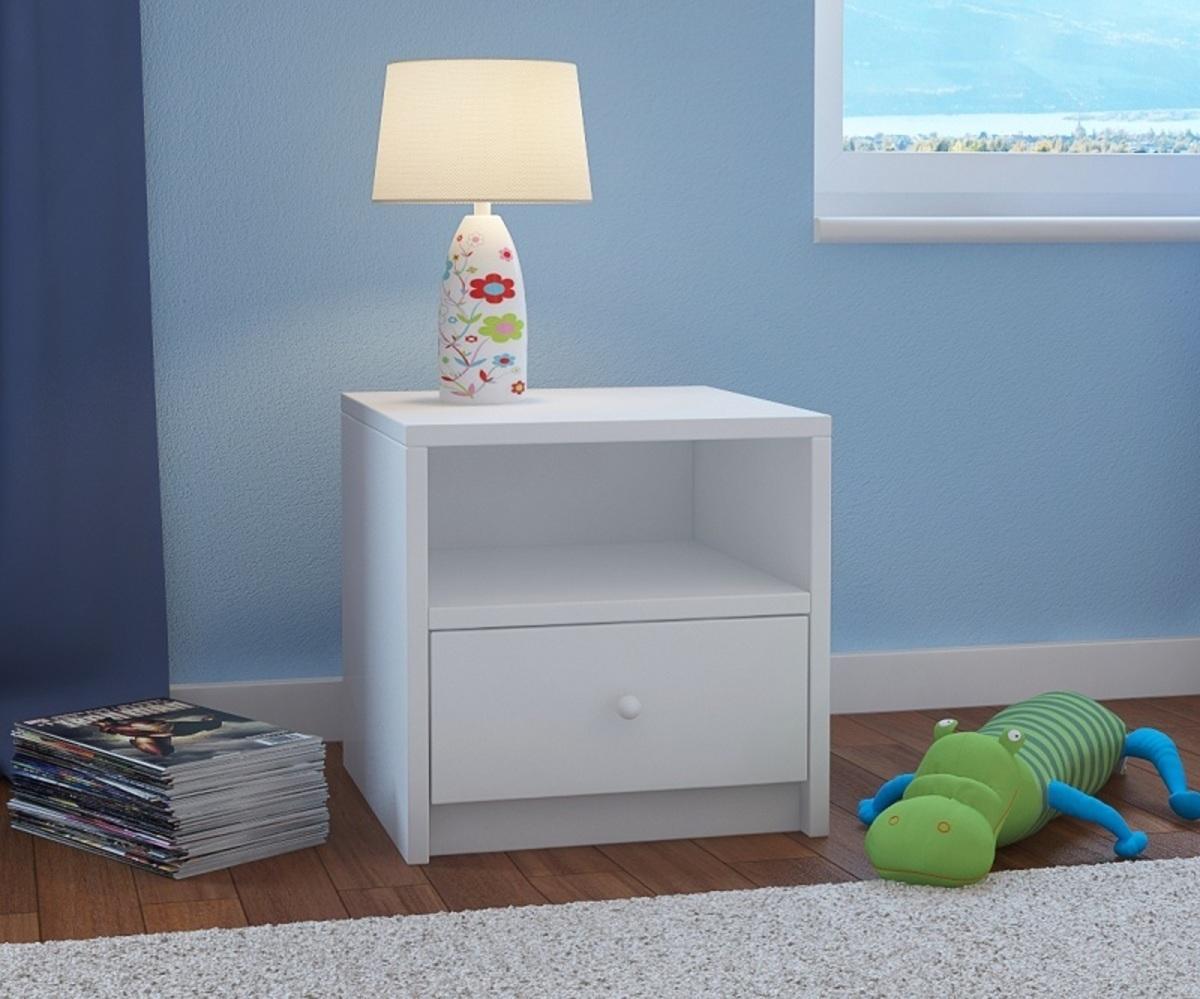 OURBABY detský nočný stolík - biely