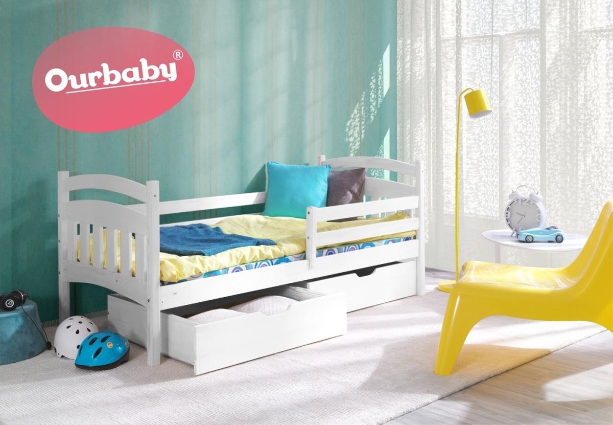 Detská posteľ Ourbaby Marco biela 180x80 cm