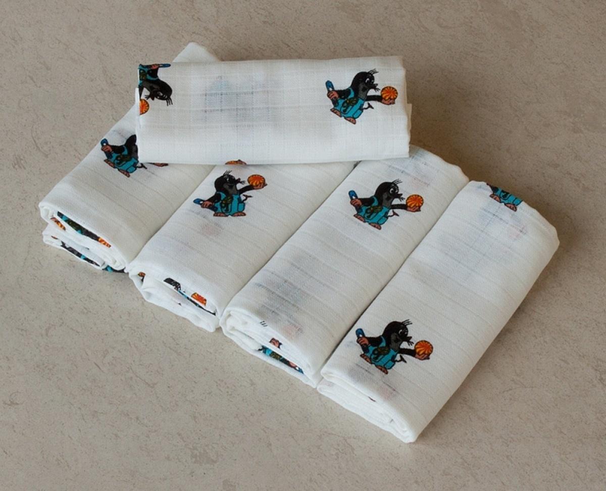 Látkové plienky PREMIUM - 70x70 cm Krtko s detským motívom (obrázky)