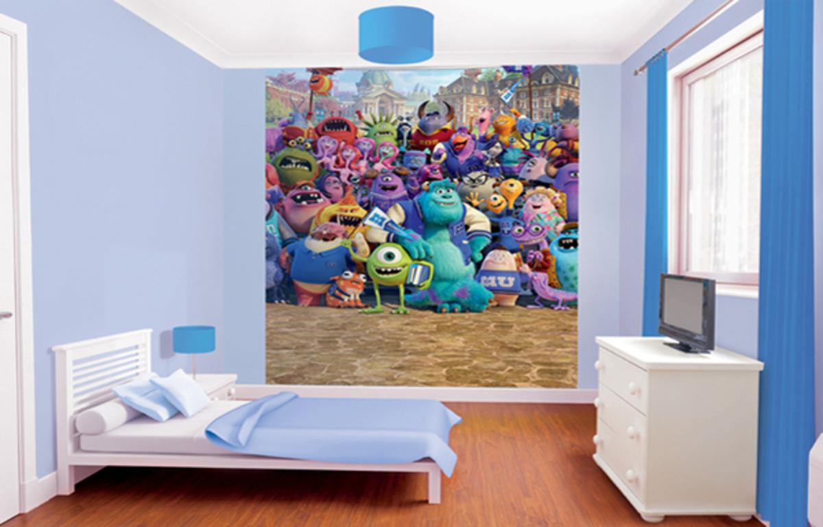 Detská 8 dielna fototapeta - Monsters University