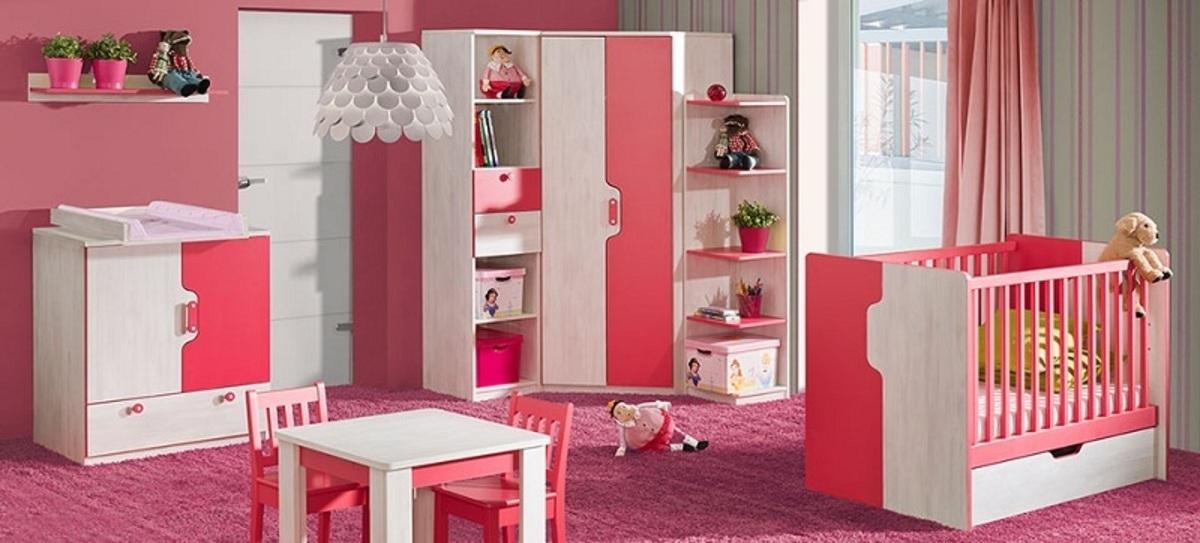 Detský izba Nuki - malina regál NU13