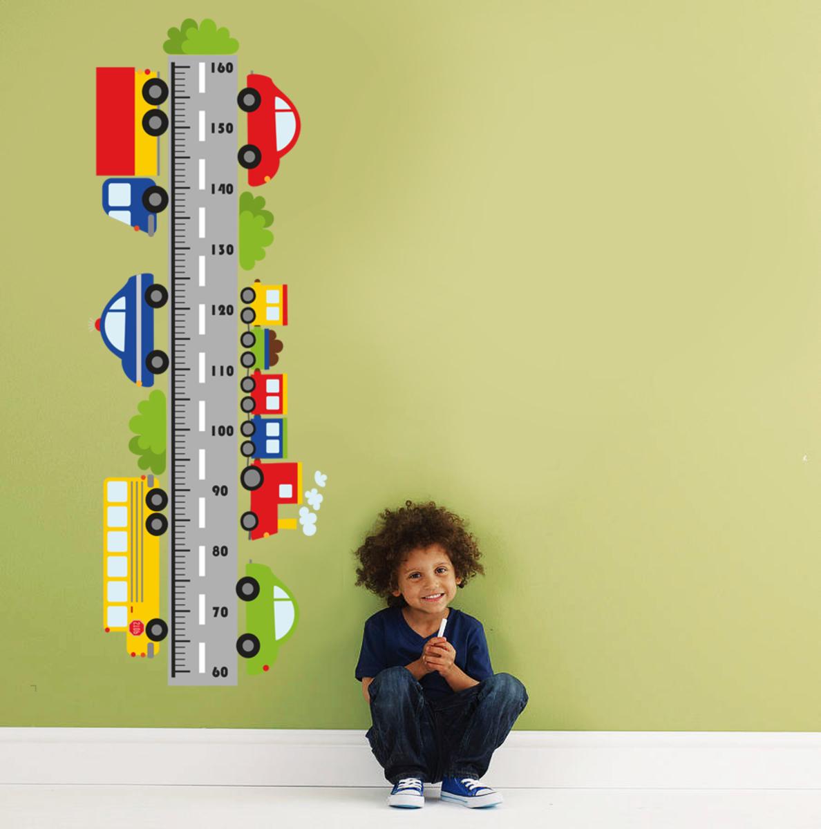Dekorácia na stenu - meter a autá 70x50