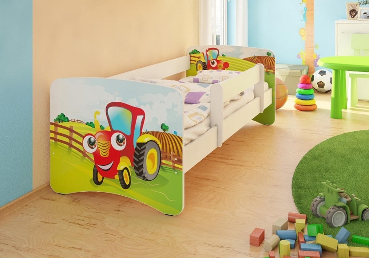 Detská posteľ Ourbaby Digger biela 160x70 cm