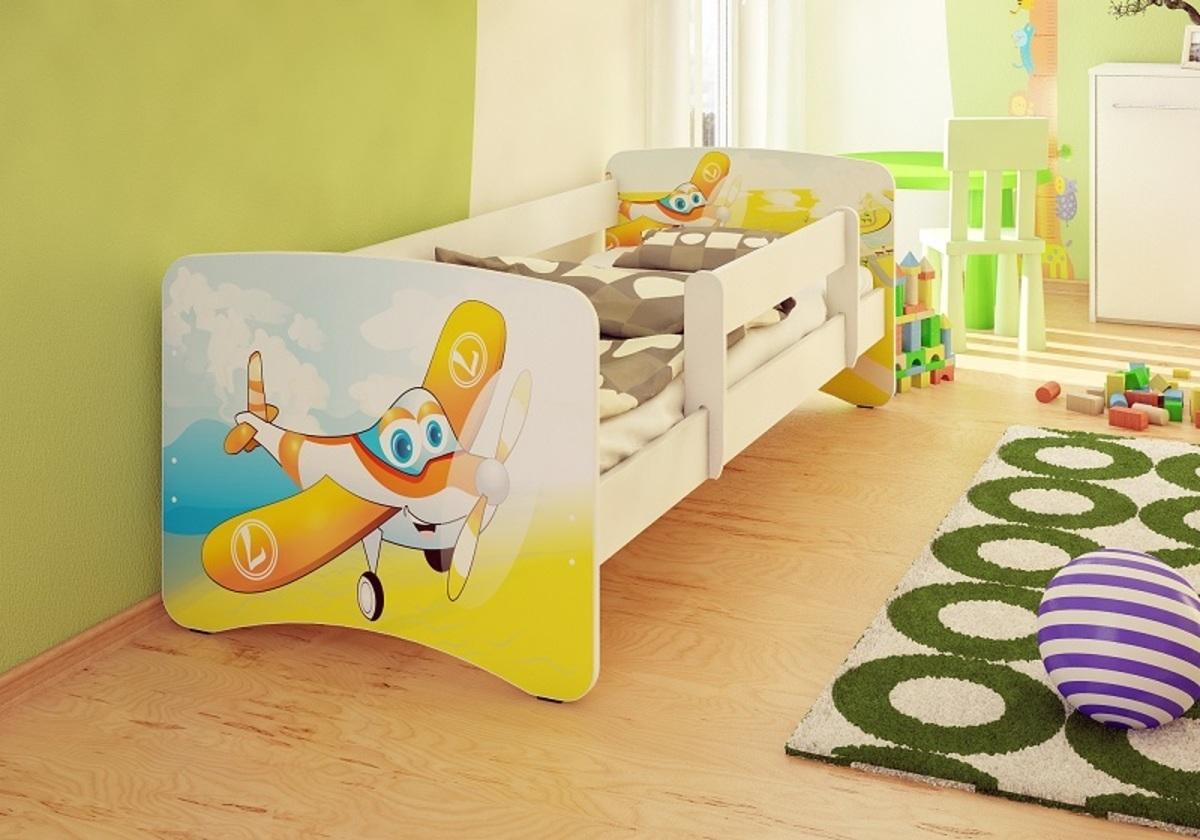 Detská posteľ Ourbaby Airplane biela 160x70 cm