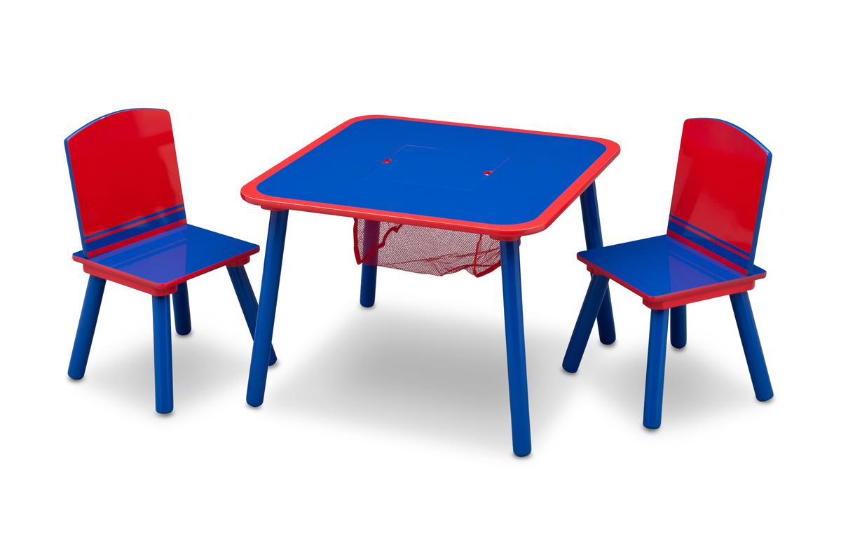 Detský stôl so stoličkami - modro-červený TT89514GN