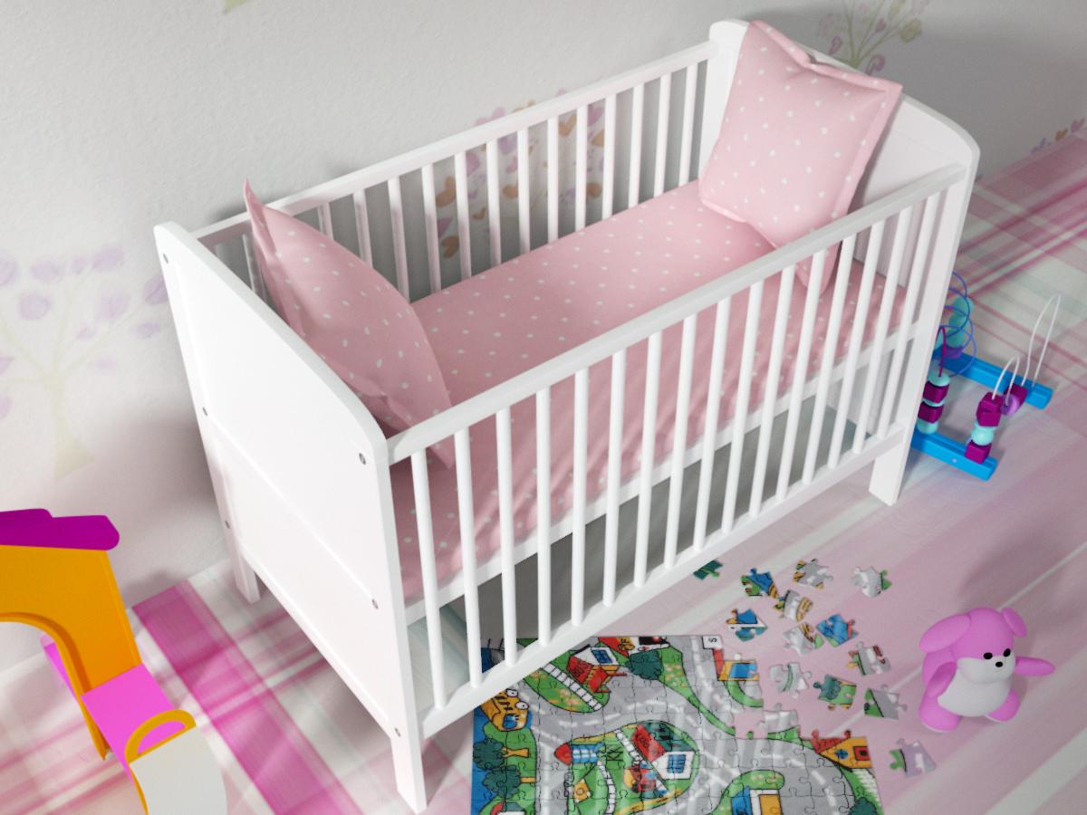 OURBABY detská postieľka - posteľ NATÁLIA biela Natálie