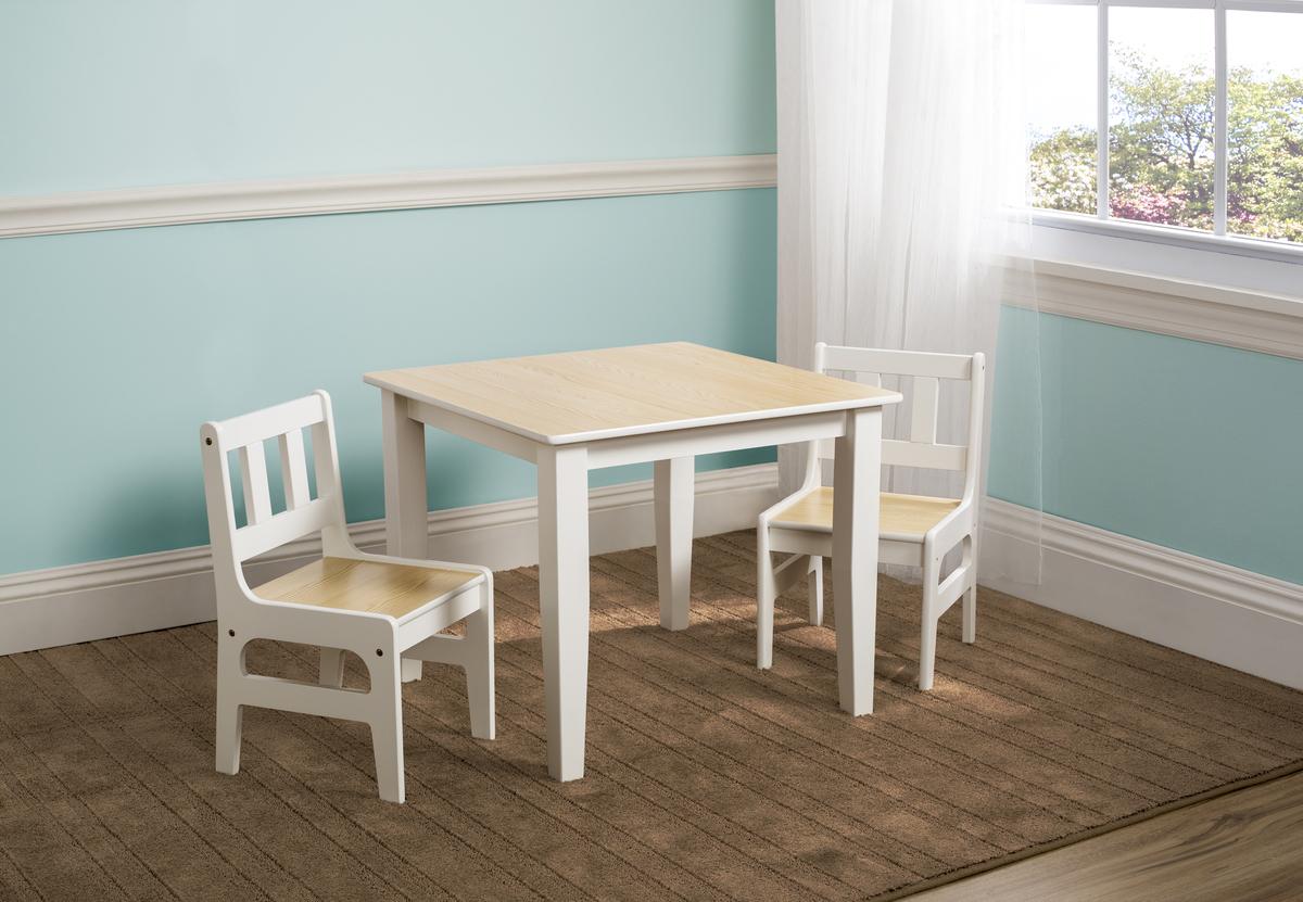 Detský stôl so stoličkami - natural TT89512GN