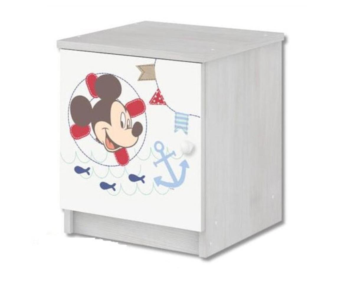 Detský nočný stolík Mickey Mouse - dekor nórska borovica nightstand