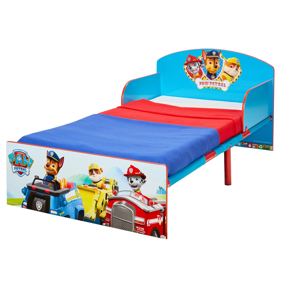 Detská posteľ Ourbaby Paw Patrol Friends modrá červená 140x70 cm