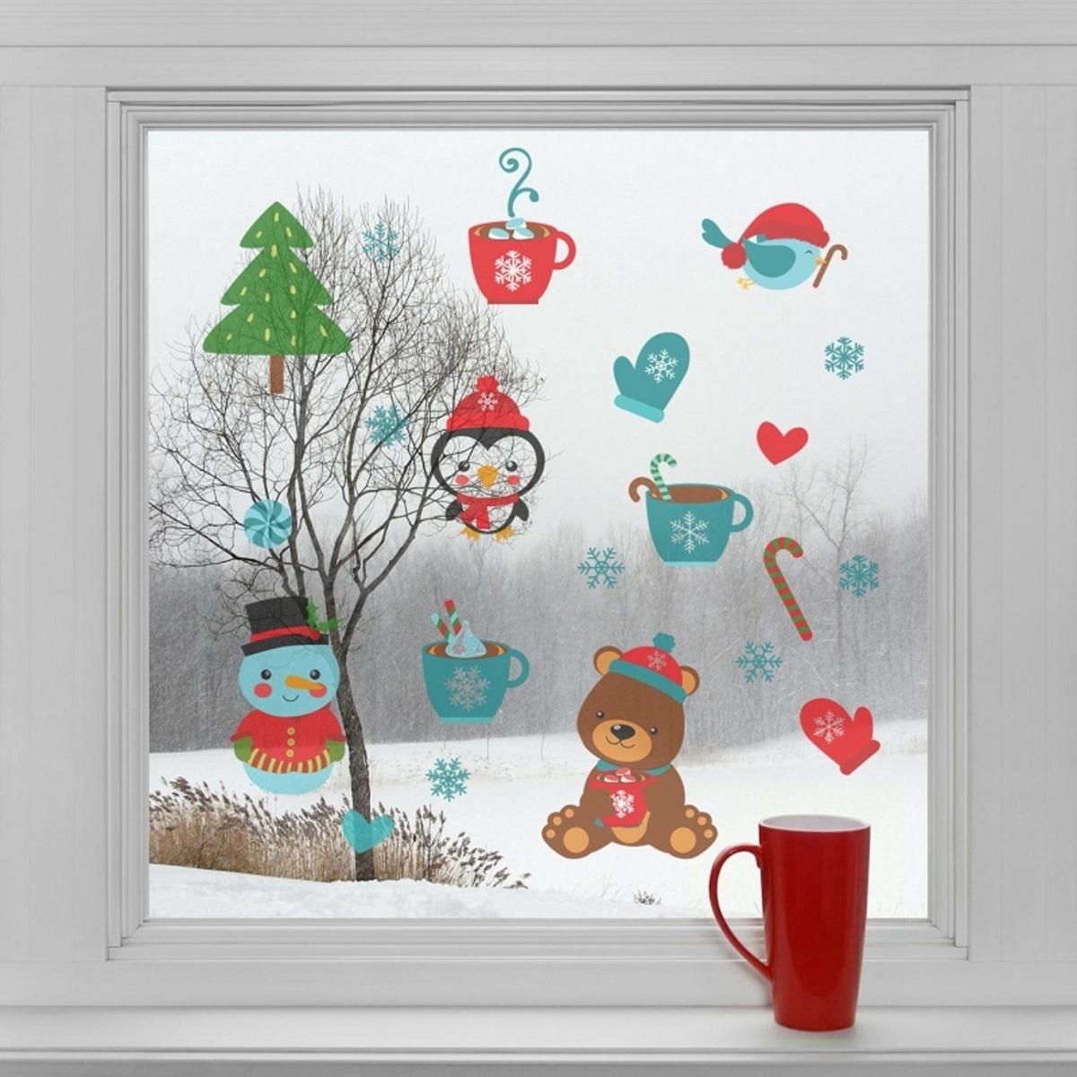 Vianočná dekorácia na okno - vianočná pohoda Vianočné