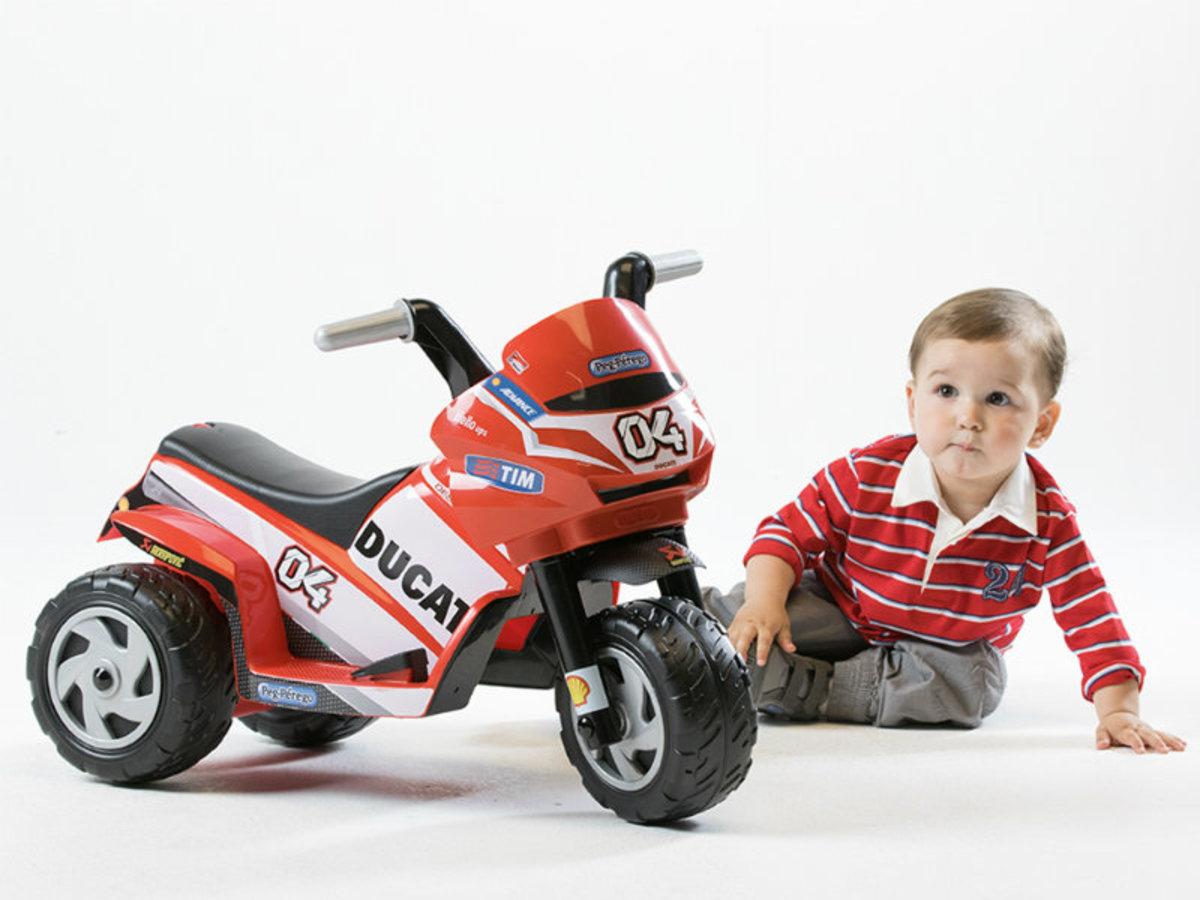 Detská elektrická trojkolka Peg Perego - Mini Ducati IGMD0005 - červená