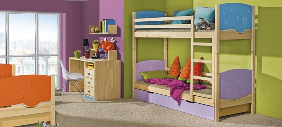Detská posteľ Ourbaby Trio borovica 190x80 cm