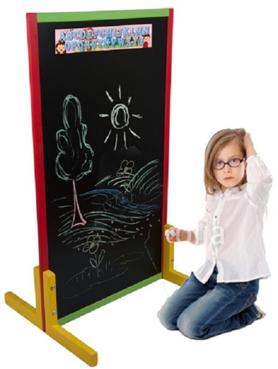 Detská kriedová tabuľa - farebná ST02
